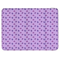 Pattern Background Violet Flowers Samsung Galaxy Tab 7  P1000 Flip Case