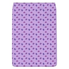 Pattern Background Violet Flowers Flap Covers (L)