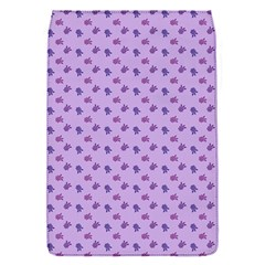 Pattern Background Violet Flowers Flap Covers (s)