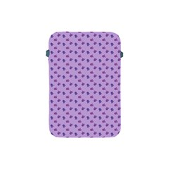 Pattern Background Violet Flowers Apple Ipad Mini Protective Soft Cases