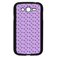 Pattern Background Violet Flowers Samsung Galaxy Grand Duos I9082 Case (black)