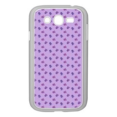Pattern Background Violet Flowers Samsung Galaxy Grand Duos I9082 Case (white)