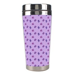 Pattern Background Violet Flowers Stainless Steel Travel Tumblers