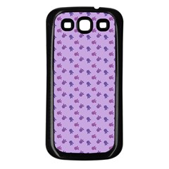 Pattern Background Violet Flowers Samsung Galaxy S3 Back Case (black)