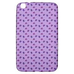 Pattern Background Violet Flowers Samsung Galaxy Tab 3 (8 ) T3100 Hardshell Case