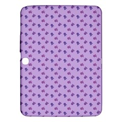 Pattern Background Violet Flowers Samsung Galaxy Tab 3 (10 1 ) P5200 Hardshell Case