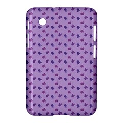 Pattern Background Violet Flowers Samsung Galaxy Tab 2 (7 ) P3100 Hardshell Case