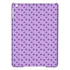 Pattern Background Violet Flowers Ipad Air Hardshell Cases