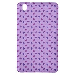 Pattern Background Violet Flowers Samsung Galaxy Tab Pro 8.4 Hardshell Case