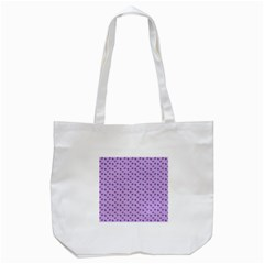 Pattern Background Violet Flowers Tote Bag (White)