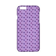 Pattern Background Violet Flowers Apple iPhone 6/6S Hardshell Case
