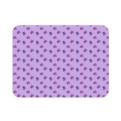 Pattern Background Violet Flowers Double Sided Flano Blanket (Mini)