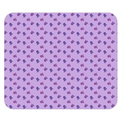 Pattern Background Violet Flowers Double Sided Flano Blanket (Small)