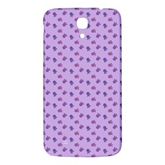 Pattern Background Violet Flowers Samsung Galaxy Mega I9200 Hardshell Back Case