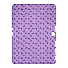 Pattern Background Violet Flowers Samsung Galaxy Tab 4 (10.1 ) Hardshell Case