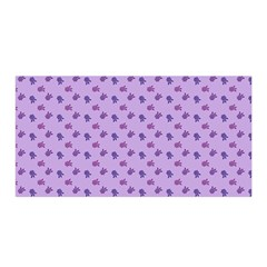 Pattern Background Violet Flowers Satin Wrap