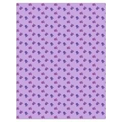 Pattern Background Violet Flowers Drawstring Bag (Large)