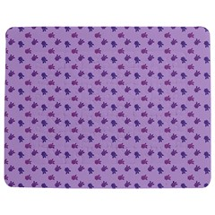 Pattern Background Violet Flowers Jigsaw Puzzle Photo Stand (Rectangular)