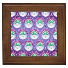Background Floral Pattern Purple Framed Tiles