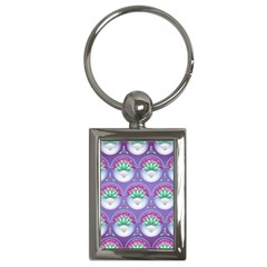 Background Floral Pattern Purple Key Chains (rectangle)