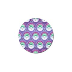 Background Floral Pattern Purple Golf Ball Marker