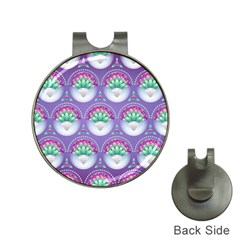 Background Floral Pattern Purple Hat Clips With Golf Markers