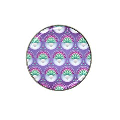 Background Floral Pattern Purple Hat Clip Ball Marker (4 Pack)