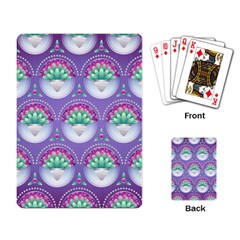 Background Floral Pattern Purple Playing Card