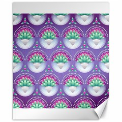 Background Floral Pattern Purple Canvas 16  x 20