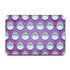Background Floral Pattern Purple Small Doormat