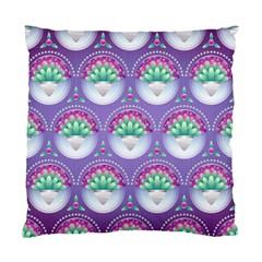 Background Floral Pattern Purple Standard Cushion Case (two Sides)