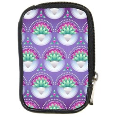 Background Floral Pattern Purple Compact Camera Cases