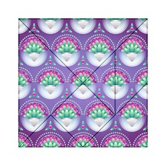 Background Floral Pattern Purple Acrylic Tangram Puzzle (6  X 6 )