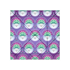 Background Floral Pattern Purple Acrylic Tangram Puzzle (4  X 4 )