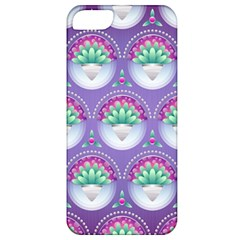 Background Floral Pattern Purple Apple Iphone 5 Classic Hardshell Case