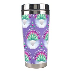 Background Floral Pattern Purple Stainless Steel Travel Tumblers