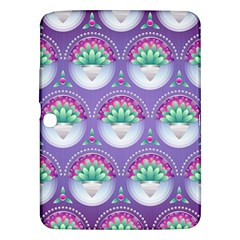 Background Floral Pattern Purple Samsung Galaxy Tab 3 (10 1 ) P5200 Hardshell Case