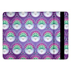 Background Floral Pattern Purple Samsung Galaxy Tab Pro 12 2  Flip Case