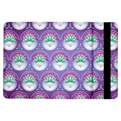 Background Floral Pattern Purple Ipad Air Flip