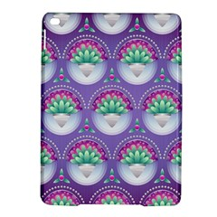 Background Floral Pattern Purple iPad Air 2 Hardshell Cases