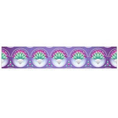 Background Floral Pattern Purple Flano Scarf (large)