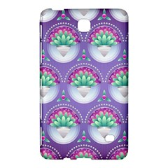 Background Floral Pattern Purple Samsung Galaxy Tab 4 (7 ) Hardshell Case