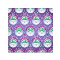 Background Floral Pattern Purple Small Satin Scarf (square)