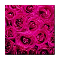 Pink Roses Roses Background Tile Coasters
