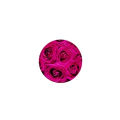 Pink Roses Roses Background 1  Mini Magnets
