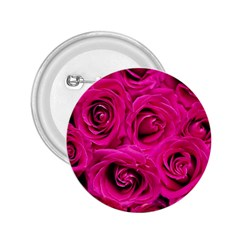 Pink Roses Roses Background 2.25  Buttons