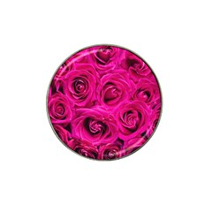Pink Roses Roses Background Hat Clip Ball Marker (10 pack)