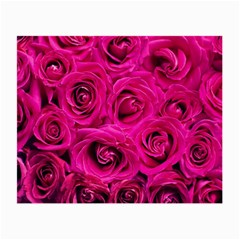 Pink Roses Roses Background Small Glasses Cloth