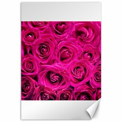 Pink Roses Roses Background Canvas 12  x 18