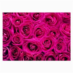 Pink Roses Roses Background Large Glasses Cloth (2-Side)